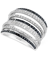 Effy Final Call Diamond Multi Row Statement Ring 1 1 5 Ct. Tw. In 14K White Gold