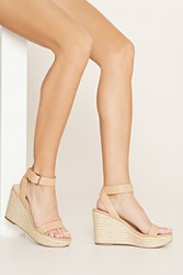 Forever 21 Faux Leather Espadrille Wedges