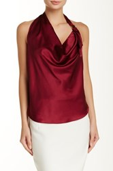 Ramy Brook Kay Stretch Silk Halter Top Red