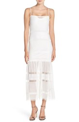 Women's French Connection Mesh Trumpet Dress Summer White