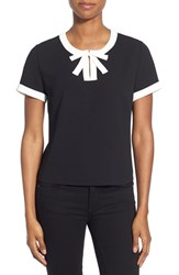 Women's Cece By Cynthia Steffe Contrast Bow Crepe Blouse