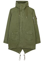John Elliott Army Green Cotton Parka Olive