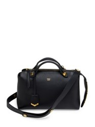 Fendi Boston By The Way Leather Satchel Black