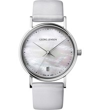 Georg Jensen Koppel 32 Stainless Steel And Mother Of Pearl Watch