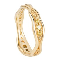 Fernando Jorge Fluid Sapphire Band Gold Ring Female Yellow Gold