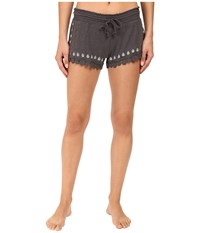 Pj Salvage Nouveau Vintage Embroidered Shorts Charcoal Women's Pajama Gray