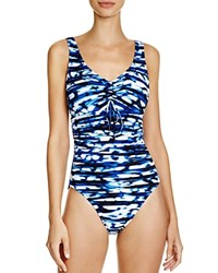 Magicsuit Blurred Lines Yasmin One Piece Swimsuit Blue