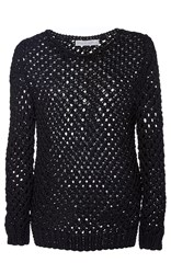 Nellie Partow Ethan Hand Knit Sweater Black