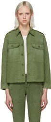 Amo Green Army Shirt Jacket