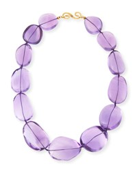Splendid Company Polished Amethyst Nugget Necklace