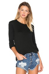 Enza Costa Cashmere Loose Crew Neck Top Green
