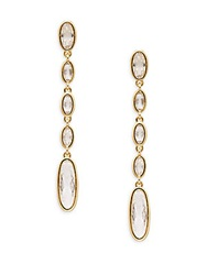 Adriana Orsini Oval Dangle Earrings Gold
