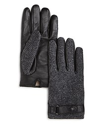 Bloomingdale's The Men's Store At Knit Top Tech Gloves Dark Grey