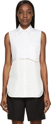 3.1 Phillip Lim White Layered Sleeveless Blouse