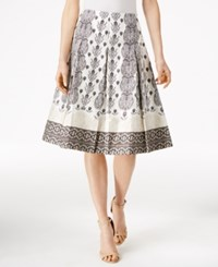 Charter Club Solei Border Polished Skirt Only At Macy's Cloud Combo