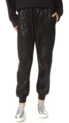 Ashish Sequin Joggers Black