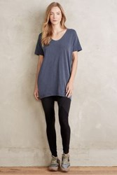 Anthropologie Jana Tunic Tee Navy