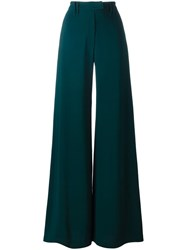 Plein Sud Jeans Flared Wide Leg Trousers Green