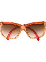 Christian Dior Vintage Oversized Sunglasses Red