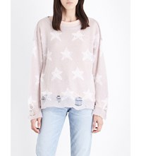 Wildfox Couture Seeing Stars Knitted Jumper Lilac Dawn