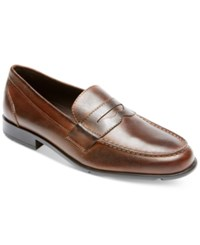 Rockport Men's Classic Penny Loafers Men's Shoes Dark Brown