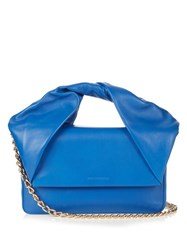 J.W.Anderson Twist Leather Clutch Blue