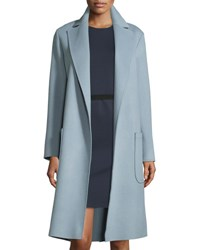 Helmut Lang Long Wool Blend Felt Wrap Coat Cirrus