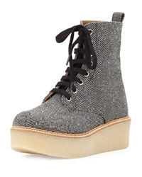 Flamingos Stuart Tweed Lace Up Boot Gray