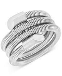 Vince Camuto Silver Tone Wire Wrapped Coil Bracelet