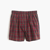 J.Crew Red Tartan Boxer Bright Red