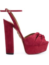 Aquazzura Platform Sandals Red