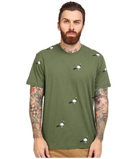 Staple All Over Pigeon Tee Olive Men's T Shirt