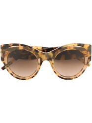 Pomellato Oversized Round Frame Sunglasses Brown