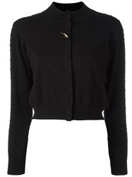 Class Roberto Cavalli Brooch Detail Cropped Cardigan Black