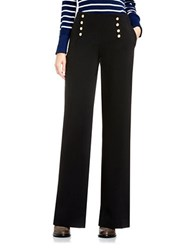 Vince Camuto Wide Leg Cavalry Twill Sailor Pants Black