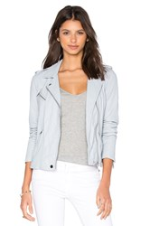Rebecca Taylor Washed Leather Jacket Gray