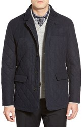 Men's Hart Schaffner Marx 'Shooter' Wool Blend Quilted Jacket