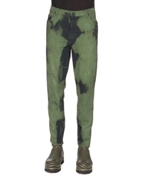 Kenzo Over Dyed Denim Jeans Blue Green