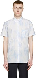 Comme Des Garcons Blue And White Tie Dye Shirt