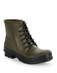 Hunter Original Rubber Ankle Boots Green