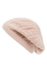 Sole Society Women's Cable Knit Beret Pink Blush