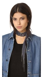 Chan Luu Ombre Scarf Choker Ombre Blue