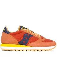 Saucony Panelled Low Top Sneakers Yellow And Orange