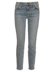 The Great The Almost Skinny Mid Rise Jeans Light Blue
