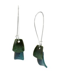 Robert Lee Morris Patina Layered Petal Long Drop Earrings