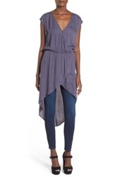 Leith Wrap Front Tunic Juniors Gray