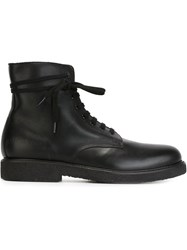Common Projects Lace Up Boots Black