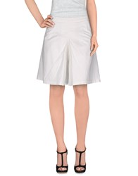 Max And Co. Skirts Knee Length Skirts Women White