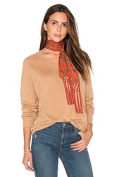 Vince Relaxed V Sweater Tan
