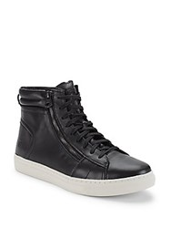 Andrew Marc New York Remsen High Top Sneakers Black White